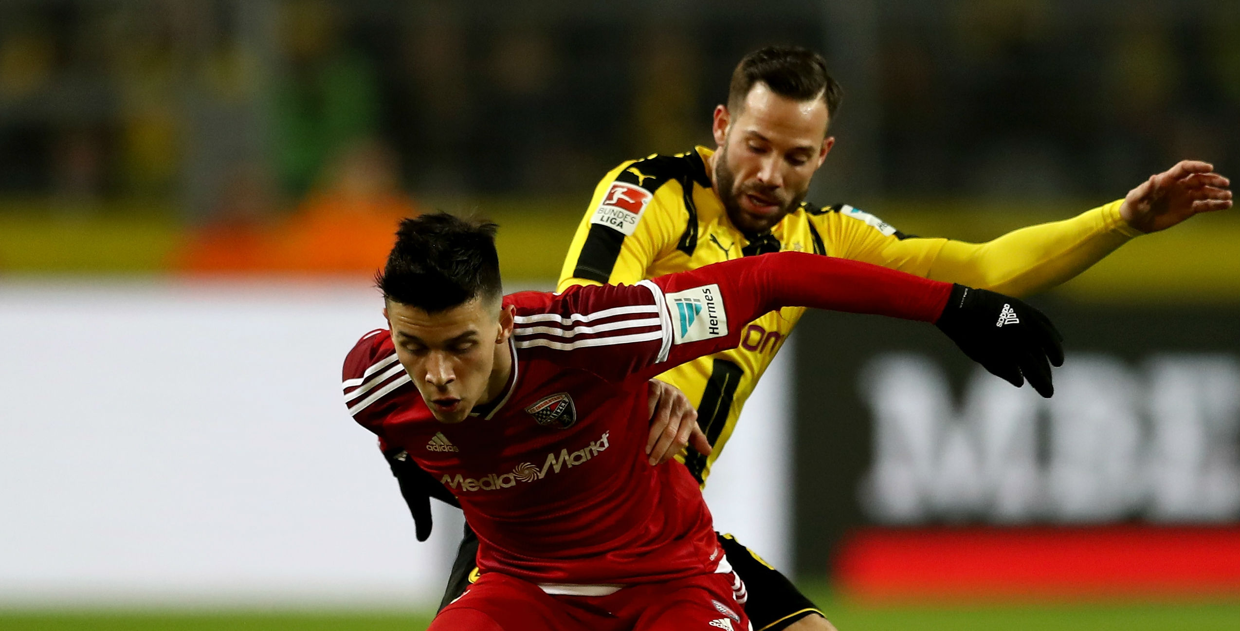 Alfredo Morales Gonzalo Castro Ingolstadt Borussia Dortmund Bundesliga 031717
