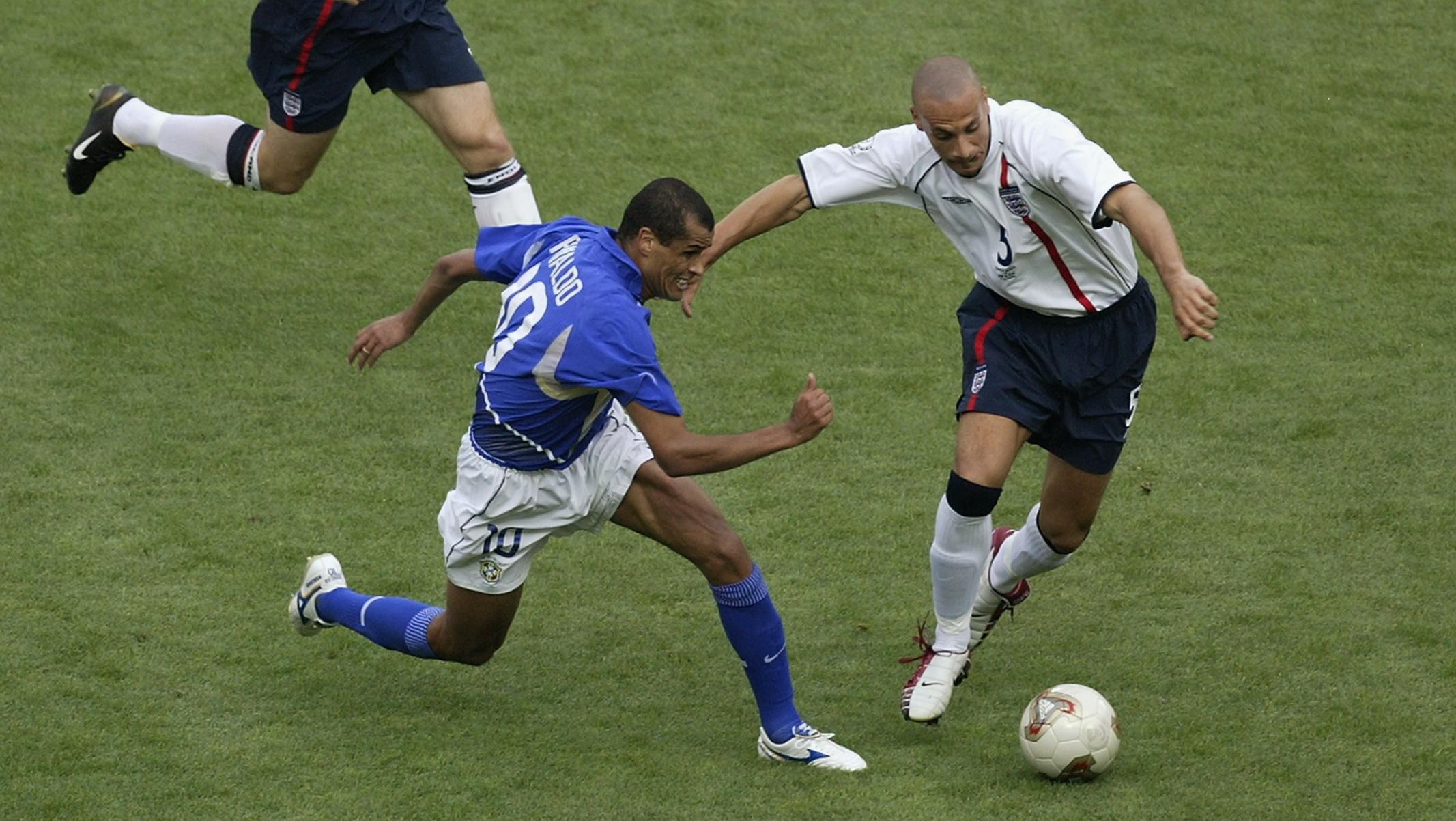 Rio Ferdinand England Rivaldo Brazil
