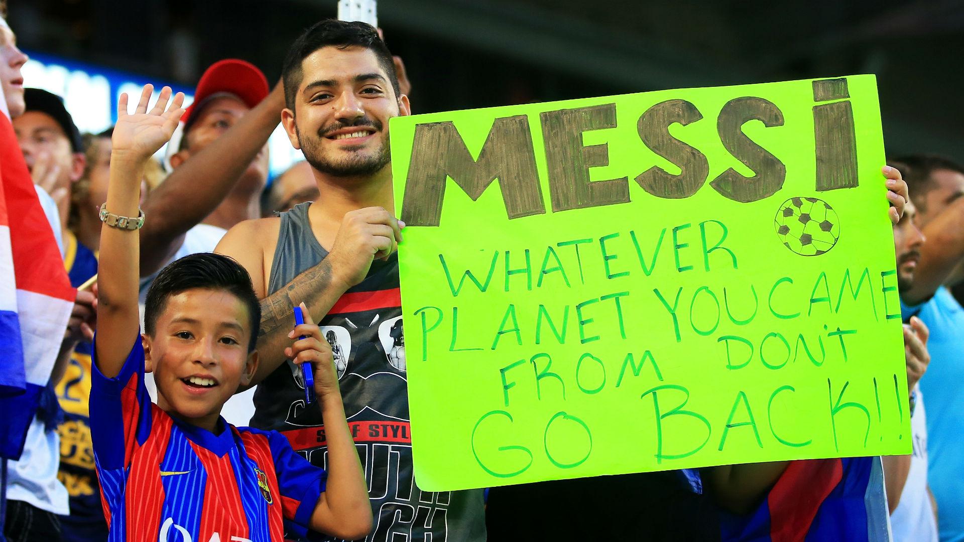 Opponent team fan spat in Lionel Messi 12/21/2015 82