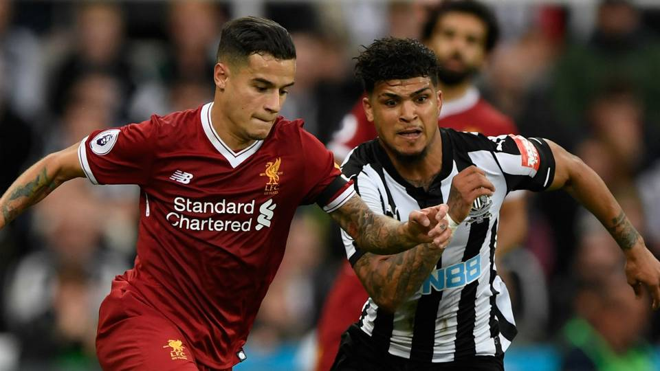 Philippe Coutinho DeAndre Yedlin Liverpool Newcastle