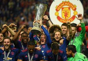 Goals from Paul Pogba and Henrikh Mkhitaryan saw Manchester United defeat Ajax to win the Europa League, booking their place in next season's Champions League in the process. Here's a look at the Red Devils' elation at clinching the trophy.