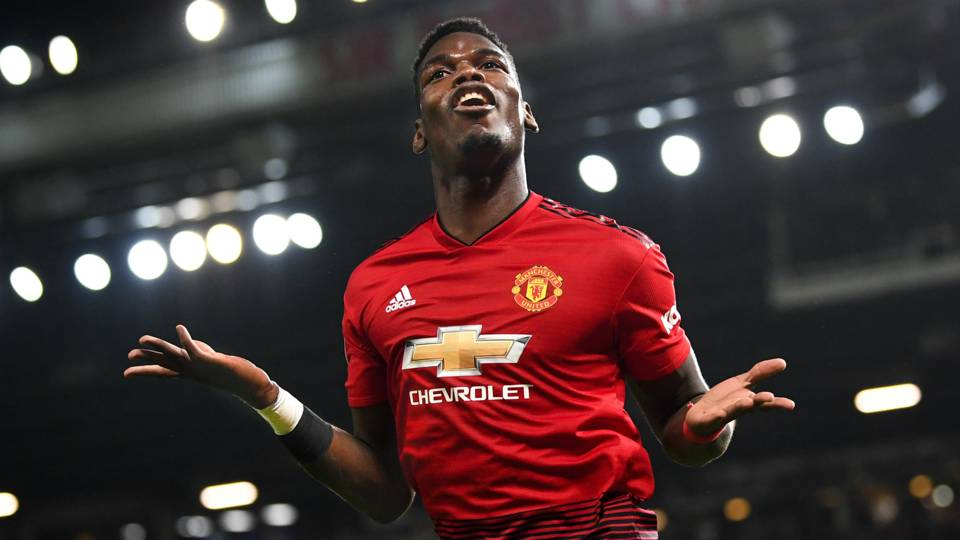 Paul Pogba Manchester United Bournemouth 30122018