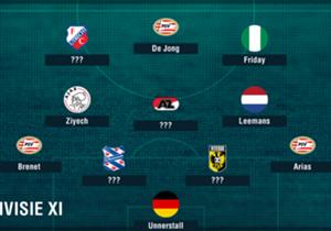 Ajax en PSV maakten geen fouten in de titelstrijd, waar Sparta Rotterdam de eerste punten pakte onder Dick Advocaat. Welke elf spelers blonken er op basis van de data Opta uit?