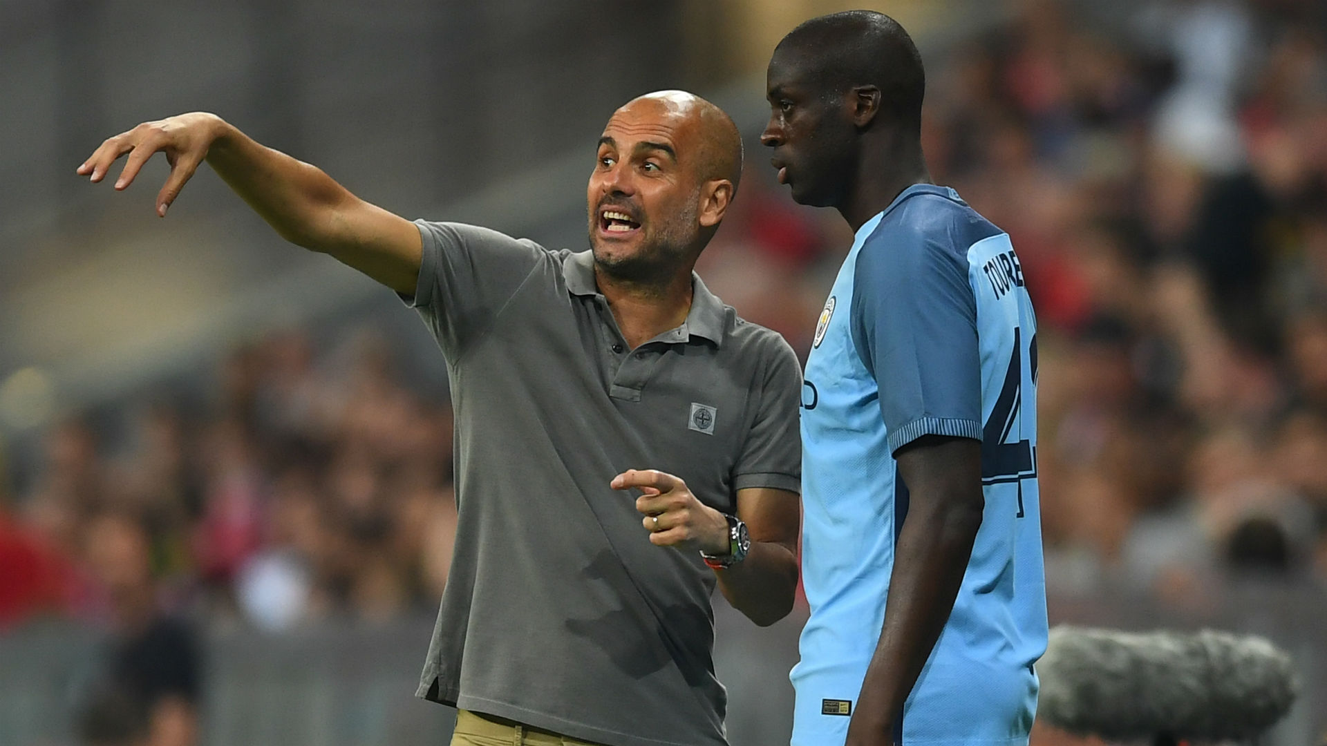 Yaya Toure & Pep Guardiola Manchester City