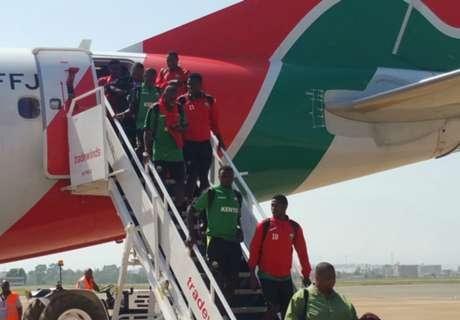 Kenya land safely in Kisumu for Cecafa semis