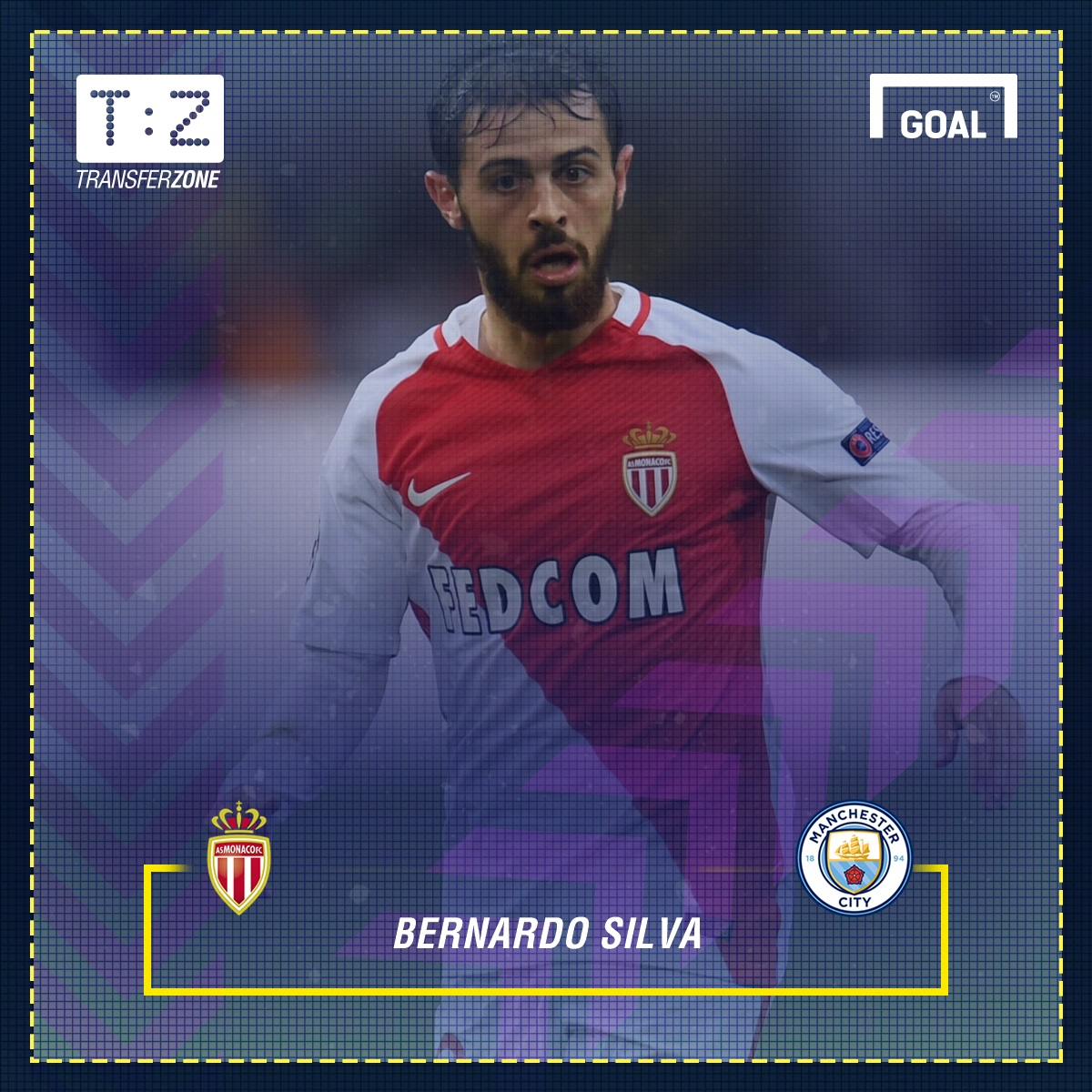 Man City sign Bernardo Silva from French champ Monaco