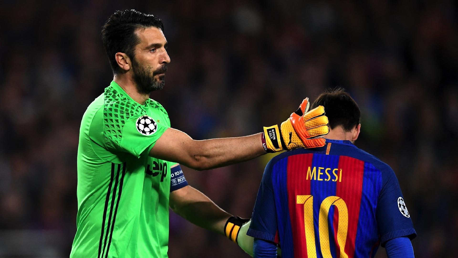 Gianluigi Buffon Lionel Messi Barcelona Juventus UCL 19042017
