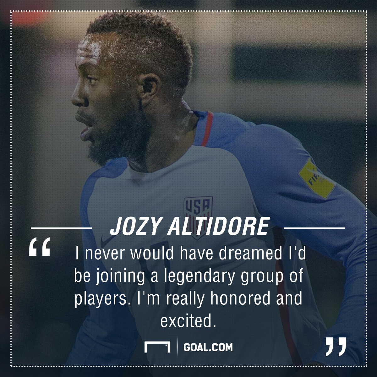 Jozy Altidore playing surface