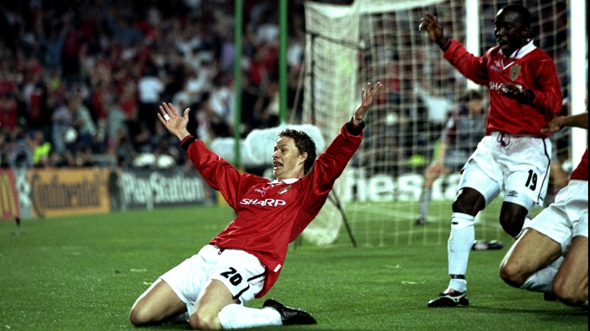 Ole Gunnar Solskaer Manchester United v Bayern Munich Champions League 27051999