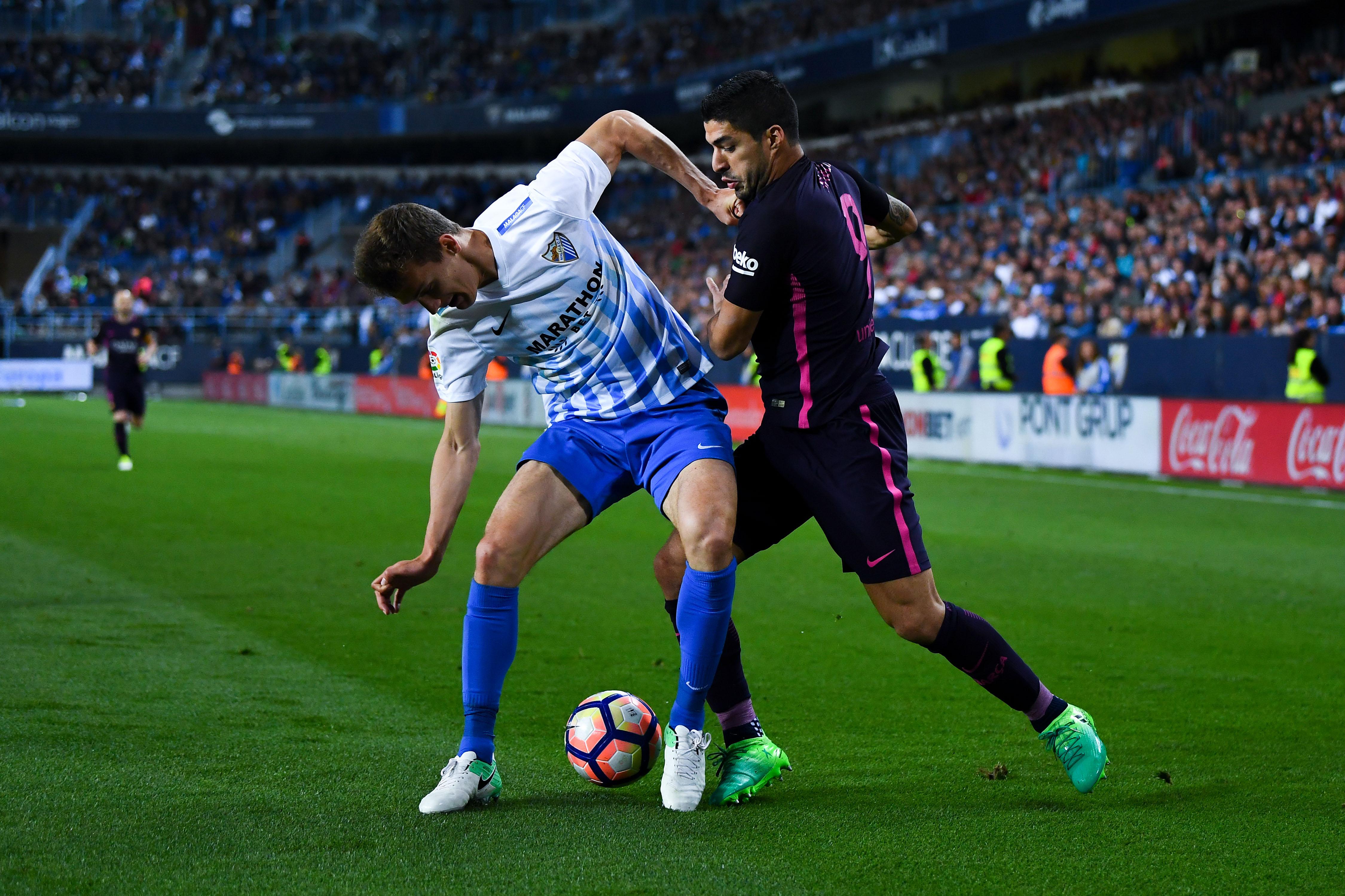 Diego Llorente Luis Suarez Malaga Barcelona 08042017