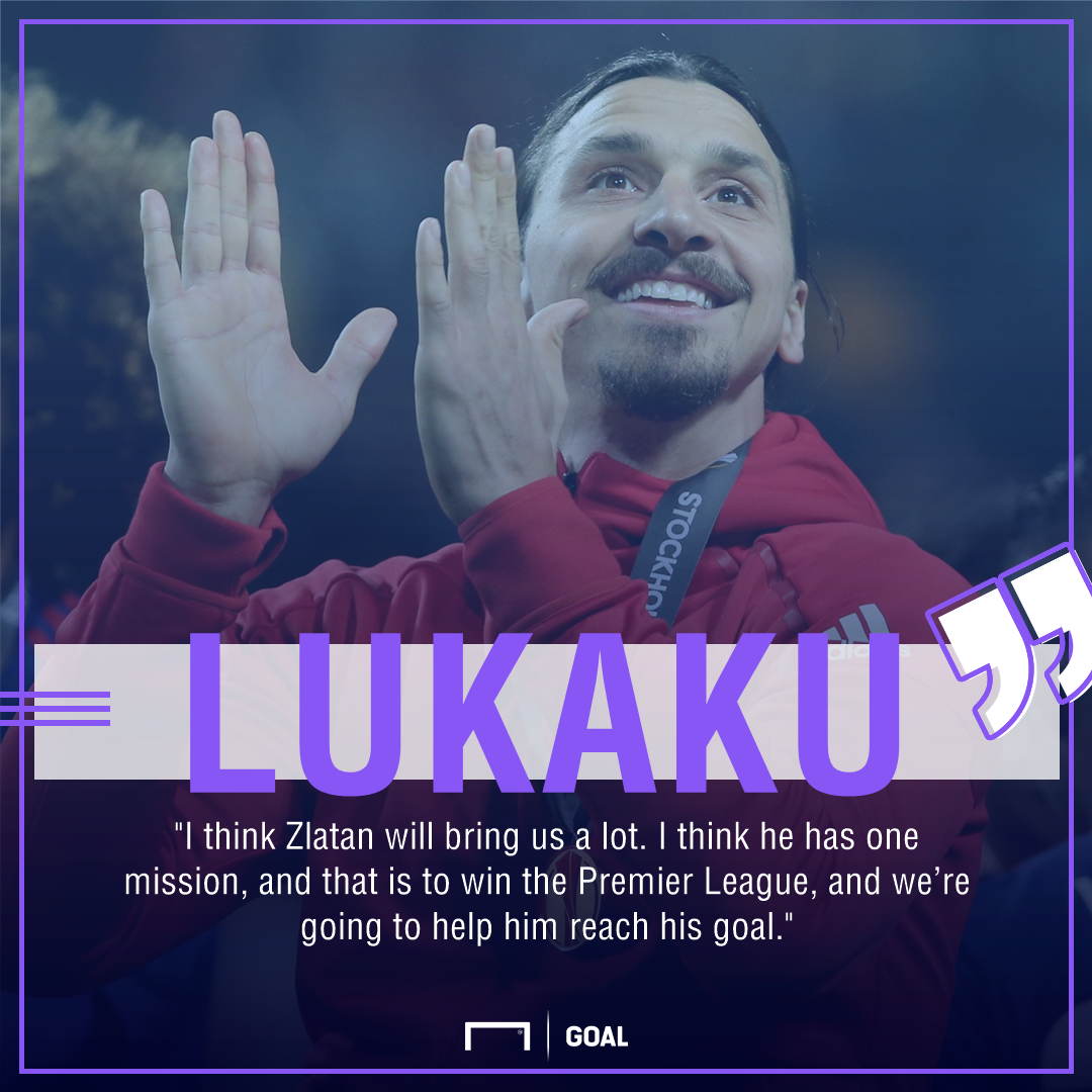 Lukaku Hails Zlatan's Return To Man Utd