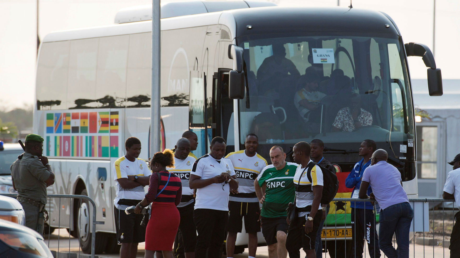 Avram Grant Ghana Team Bus 19012017