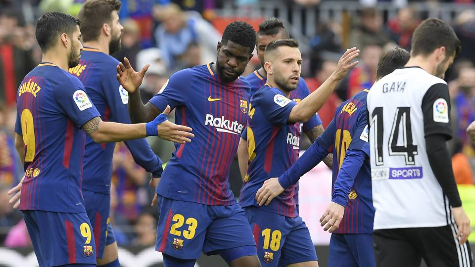 Samuel Umtiti Barcelona Valencia La Liga
