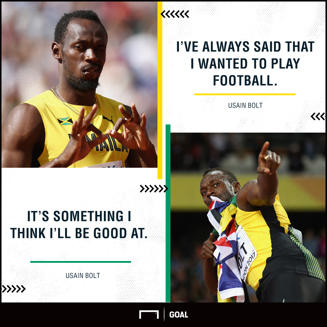 Usain Bolt football ambition