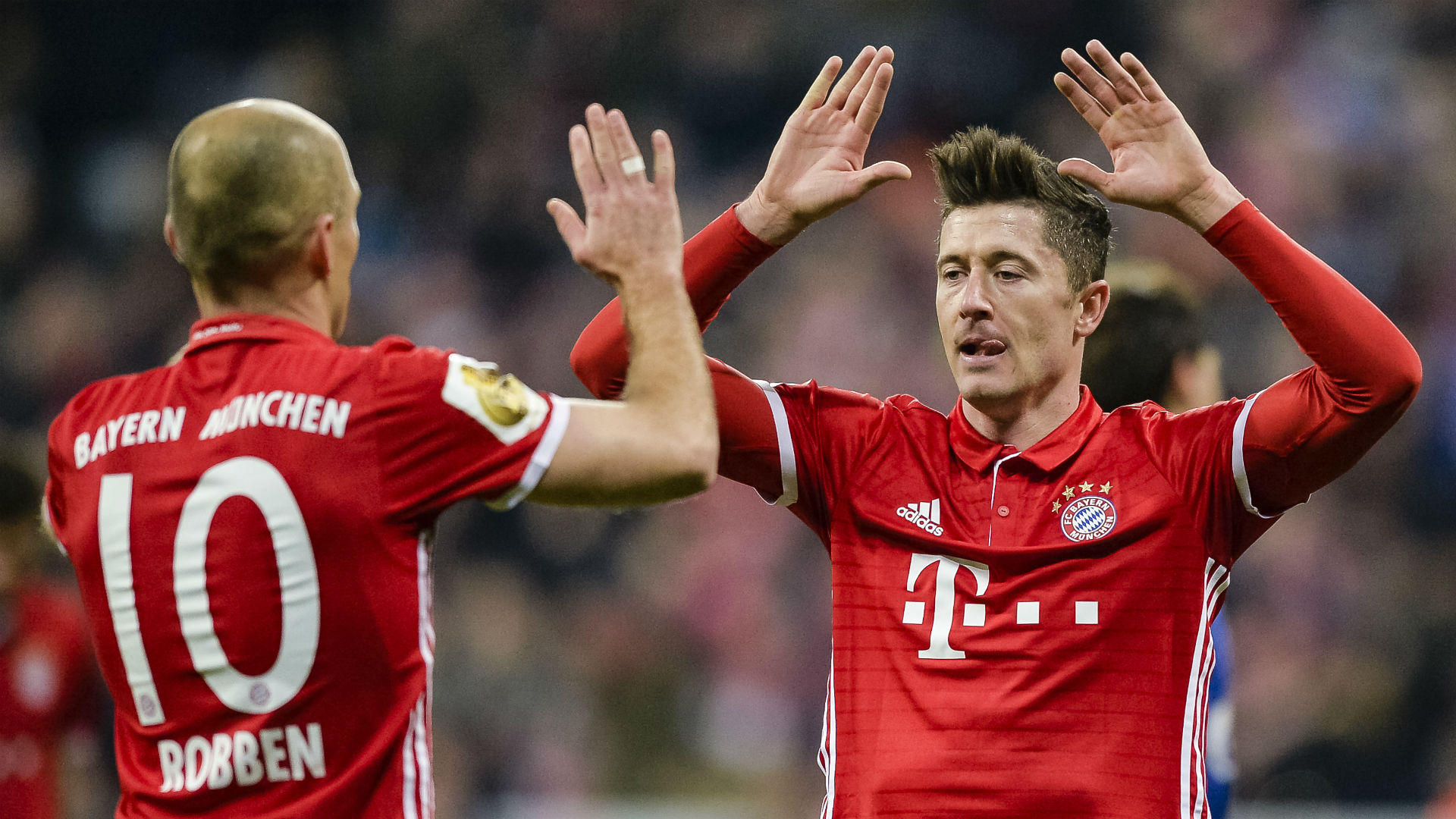 Arjen Robben Robert Lewandowski Bayern Munich