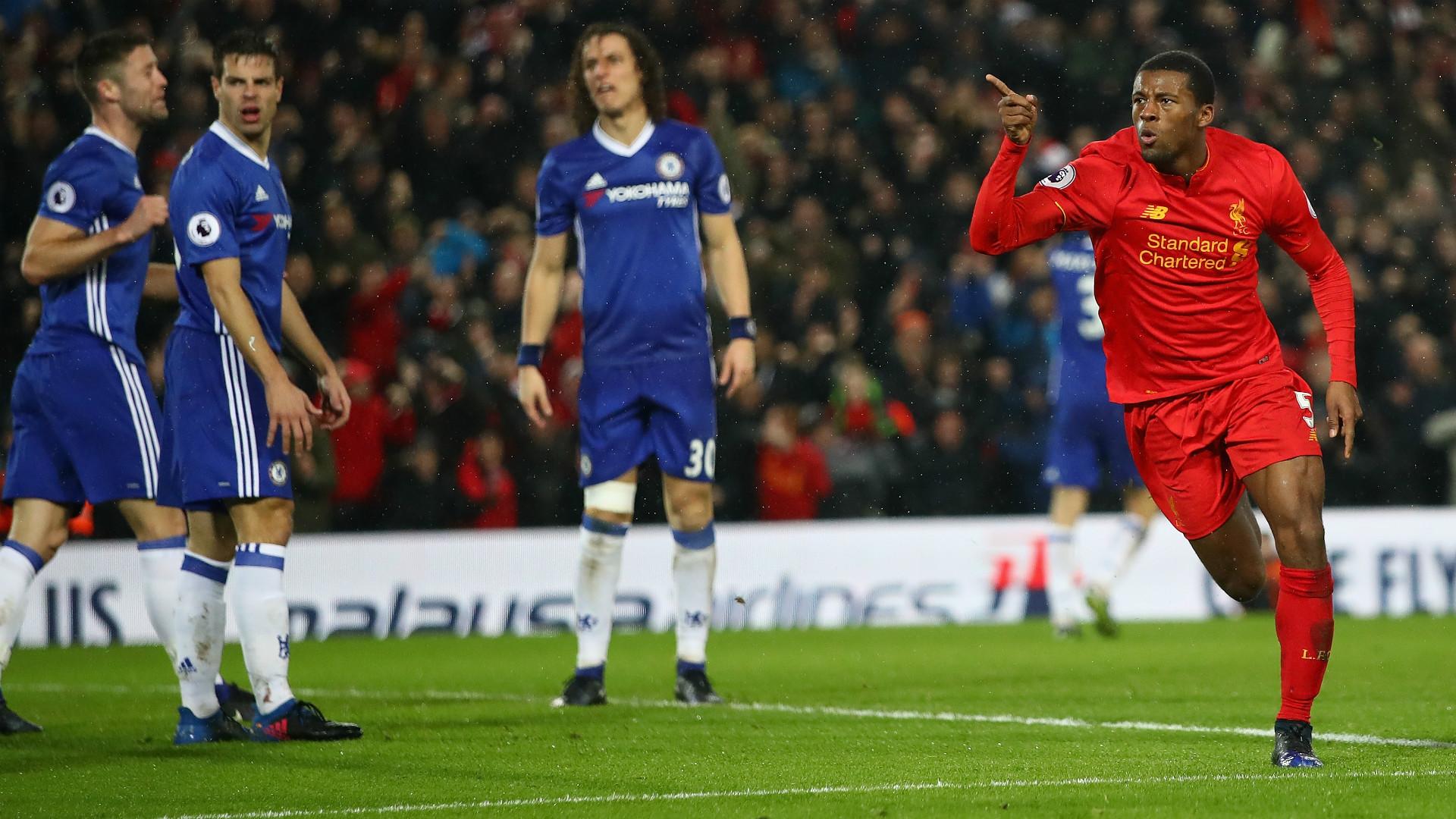HD Gini Wijnaldum Liverpool goal v Chelsea