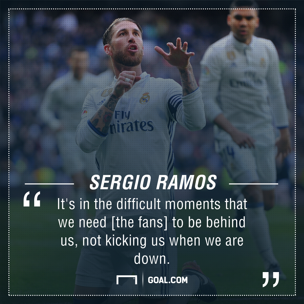 Sergio Ramos Real Madrid fans PS