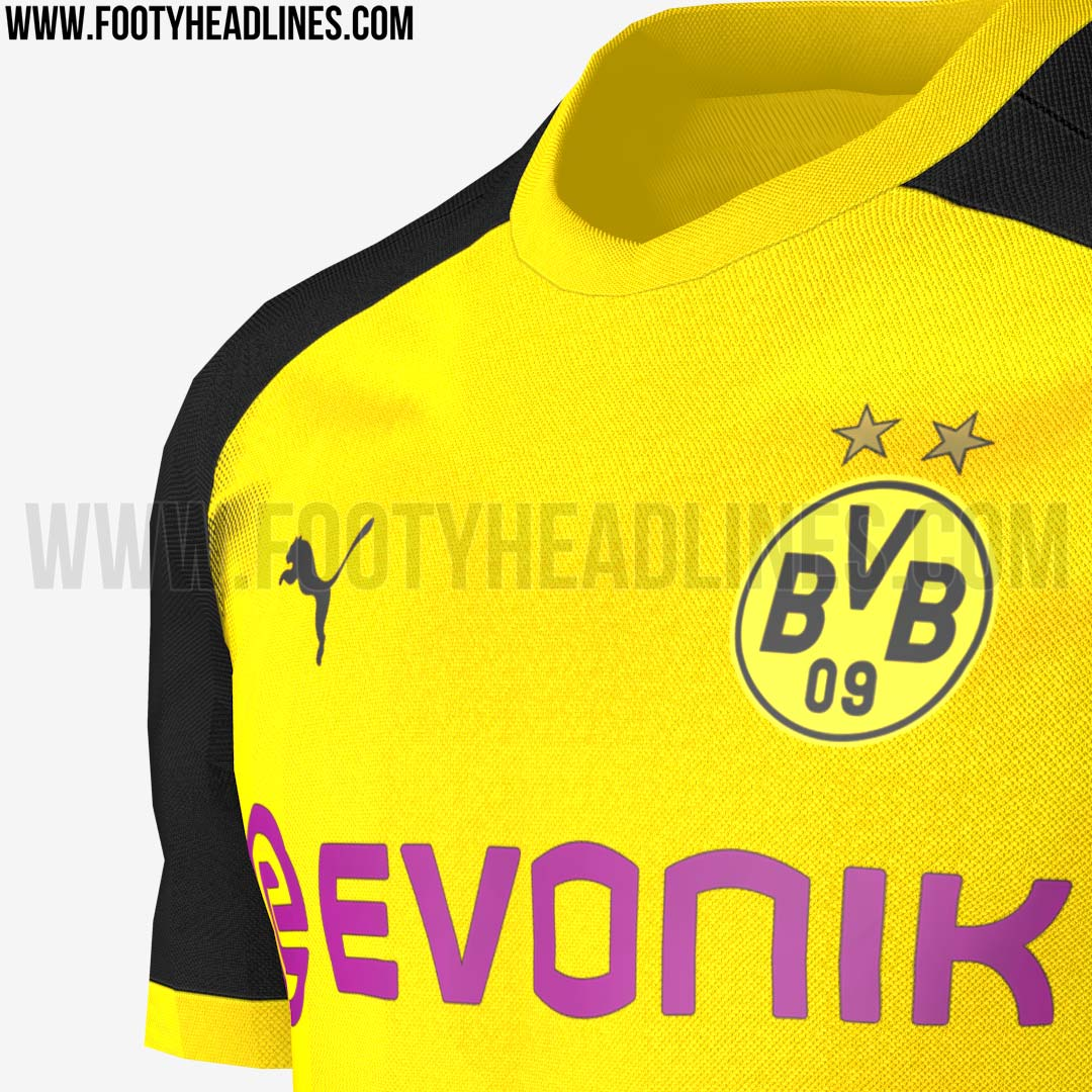 so sieht das neue bvb champions league trikot aus. Black Bedroom Furniture Sets. Home Design Ideas