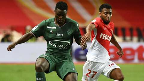 9b3f694cb6ee Paul-Georges Ntep Thomas Lemar Monaco Saint-Etienne Ligue 1 12052018 ...