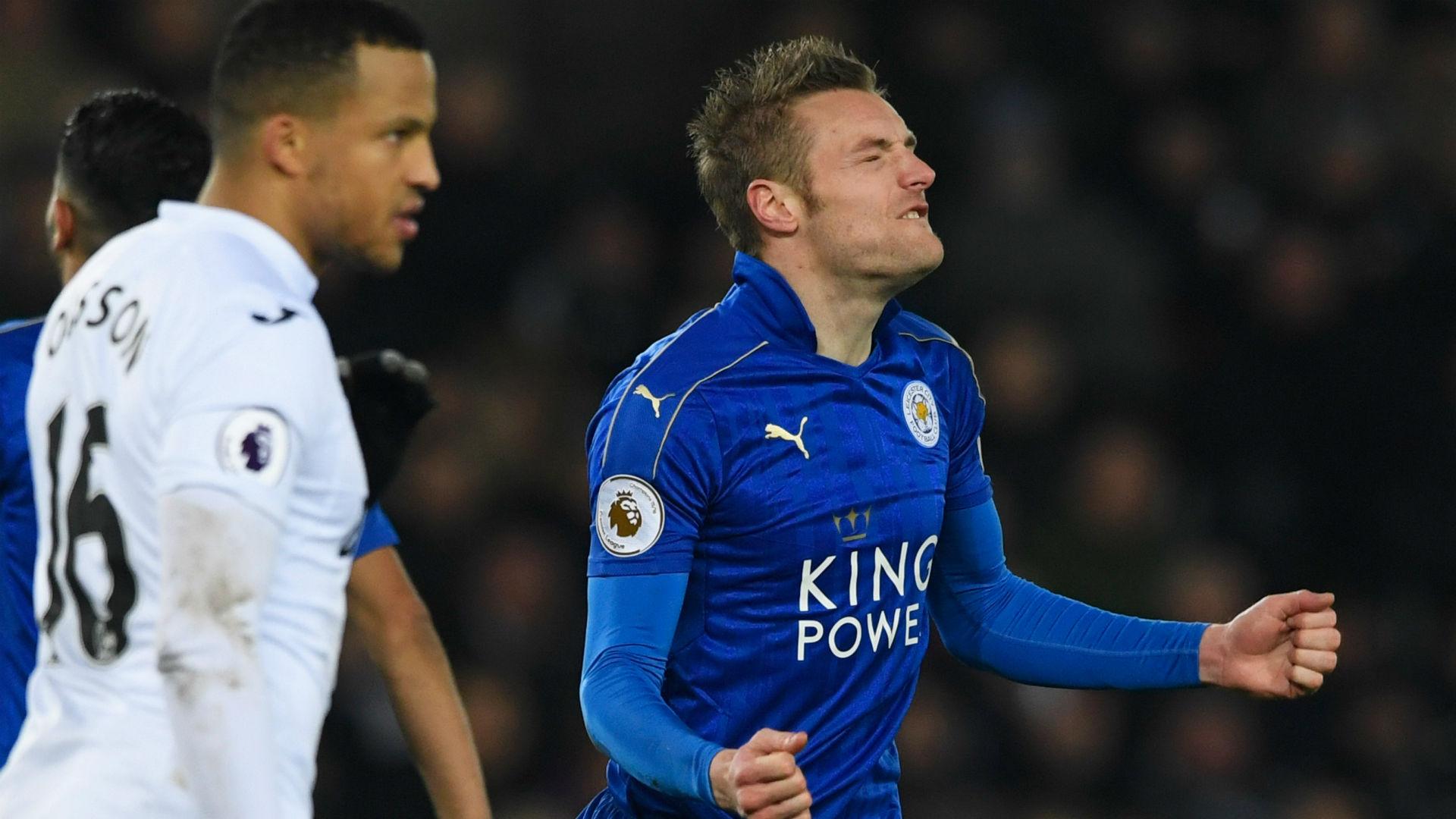 Swansea Leicester Jamie Vardy