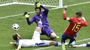 Sergio Ramos Petr Cech Spain Czech Republic Euro 2016