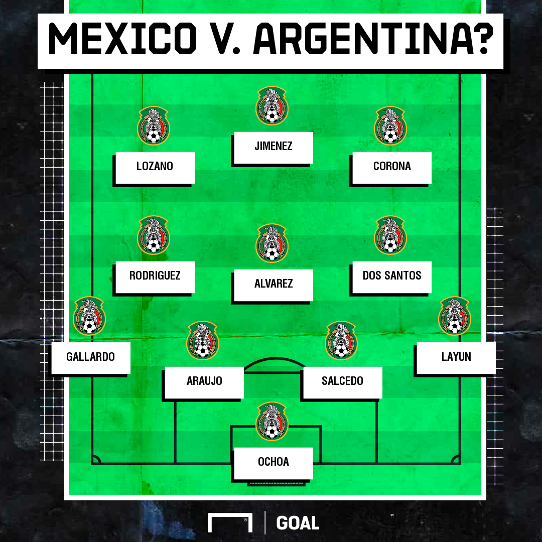 How will Mexico line up against Argentina?