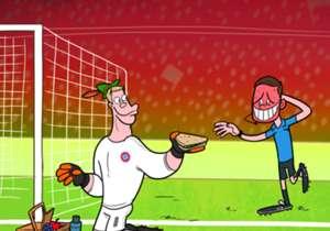 Manuel Neuer était comme en vacances lors de la déroute d'Arsenal face au Bayern (5-1) en Ligue des Champions. Il aurait même pu faire un pique-nique ! Bon, en réalité, sa déclaration a été mal traduite et il n'a jamais parlé de vacances !