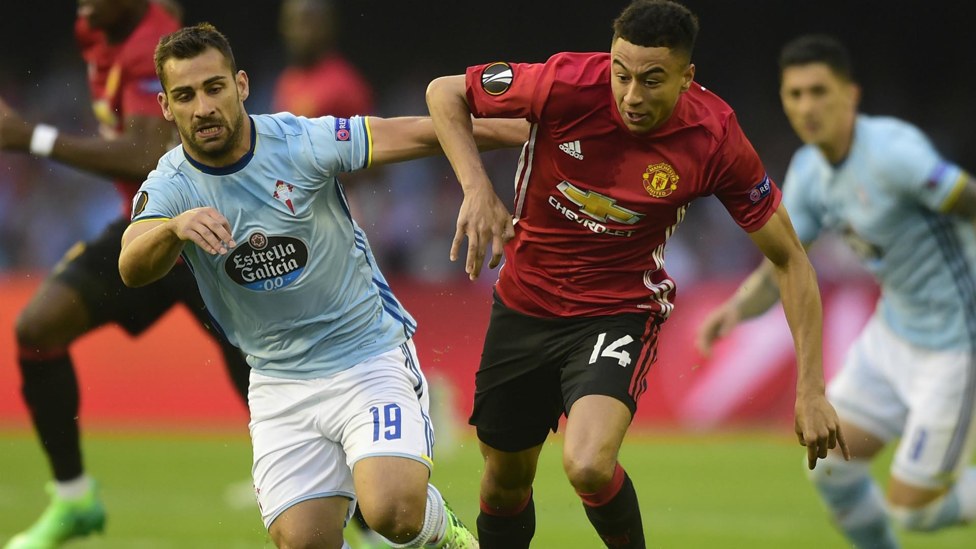 Jonny Castro Jesse Lingard Celta Manchester United Europa League