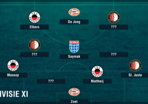Speelronde 17 in de Eredivisie ligt achter ons. Welke elf spelers blonken er, op basis van de statistieken van Opta, uit?
