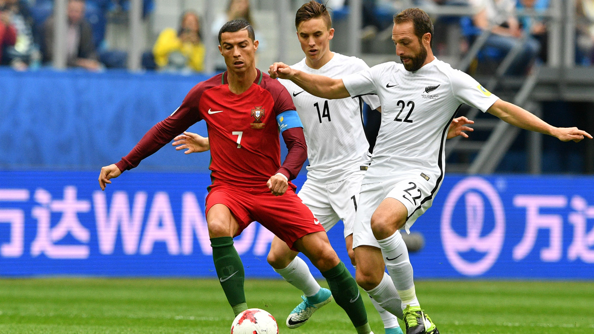 Cristiano Ronaldo Ryan Thomas Andrew Durante Portugal New Zealand Confederations Cup