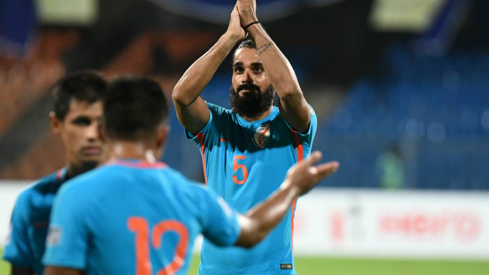 Sandesh Jhingan India Macau 2019 AFC Asian Cup qualifiers