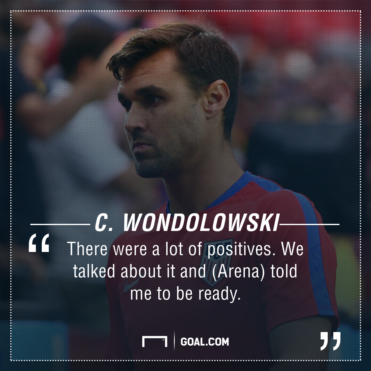 Chris Wondolowski playing surface