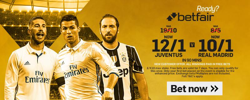 GFX Juventus Real Madrid enhanced betting