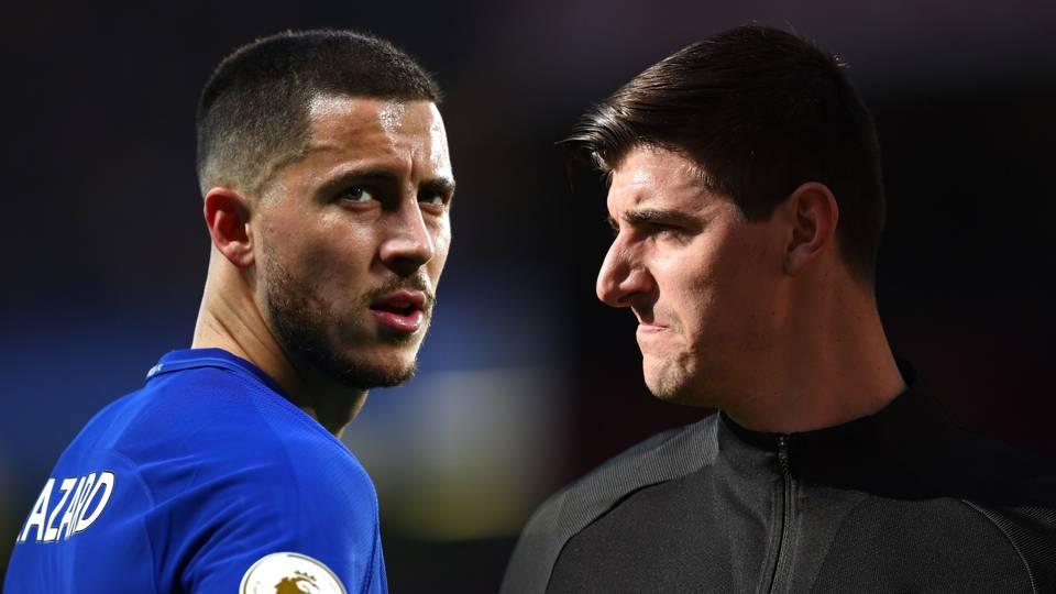 Eden Hazard, Thibaut Courtois, Chelsea