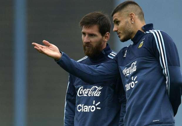 Lionel Messi Mauro Icardi Entrenamiento Seleccion argentina 29082017