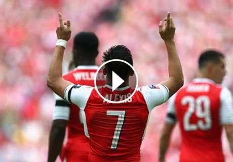 ► Los 7 goles de Alexis en Wembley