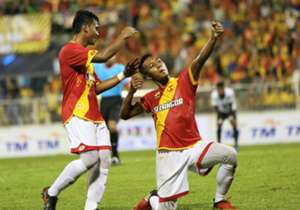 Adam Nor Azlin celebrates his goal against Pulau Pinang