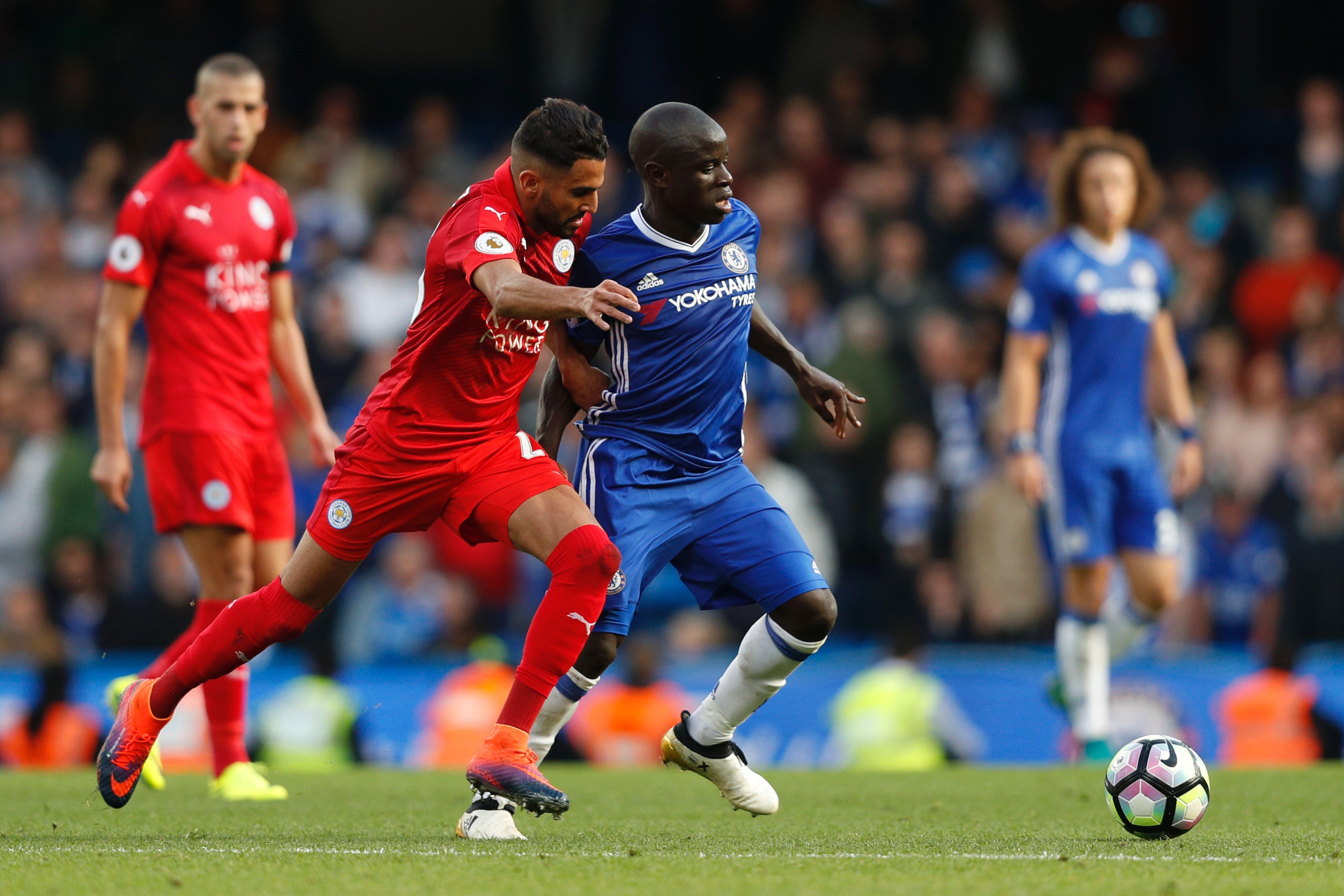 Riyard Mahrez, N'Golo Kante, Leicester City, Chelsea