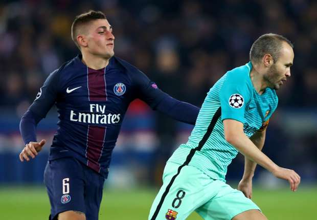 Barcelona keen to sign PSG's Verratti but Chelsea, Real Madrid and Juventus look elsewhere