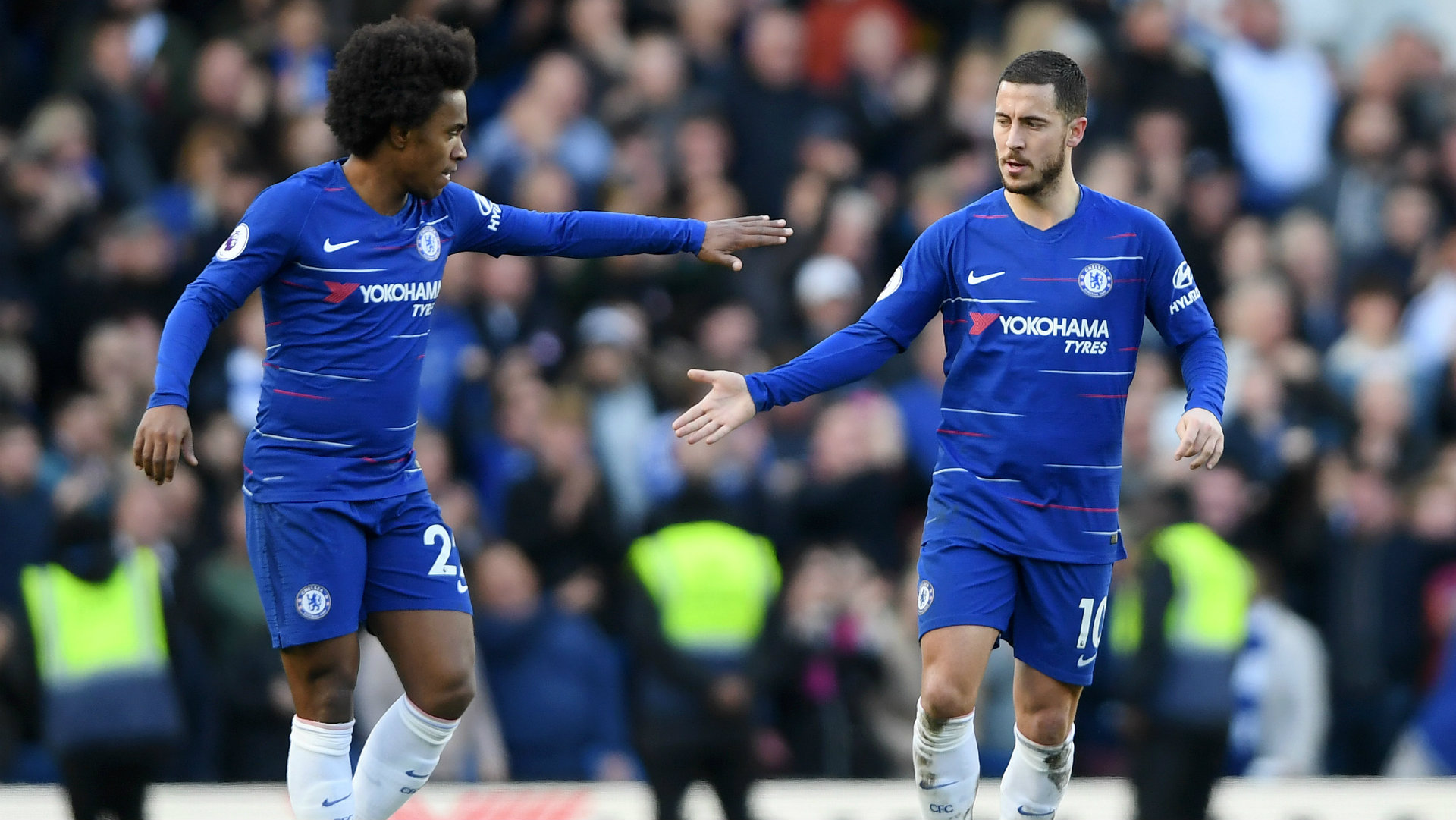 Chelsea's new No. 10: Willian reveals he is to inherit shirt from departed Hazard