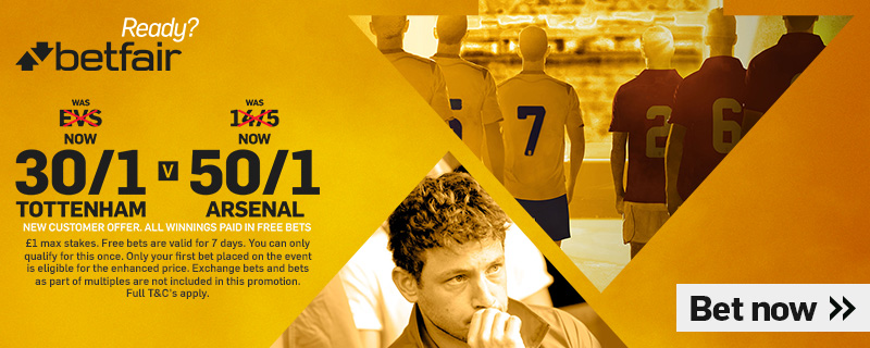 GFX TOTTENHAM V ARSENAL BETFAIR ENHANCED