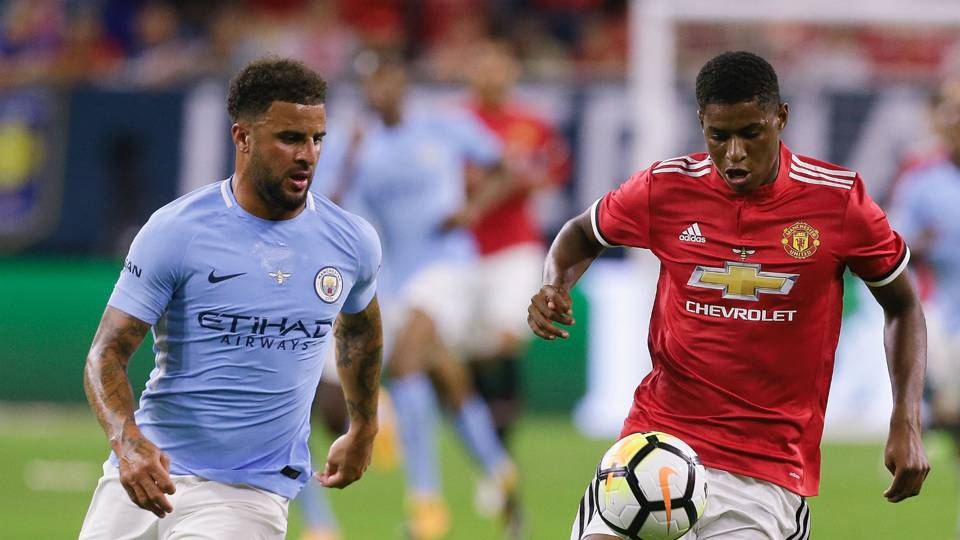 Marcus Rashford Kyle Walker Manchester United Manchester City ICC