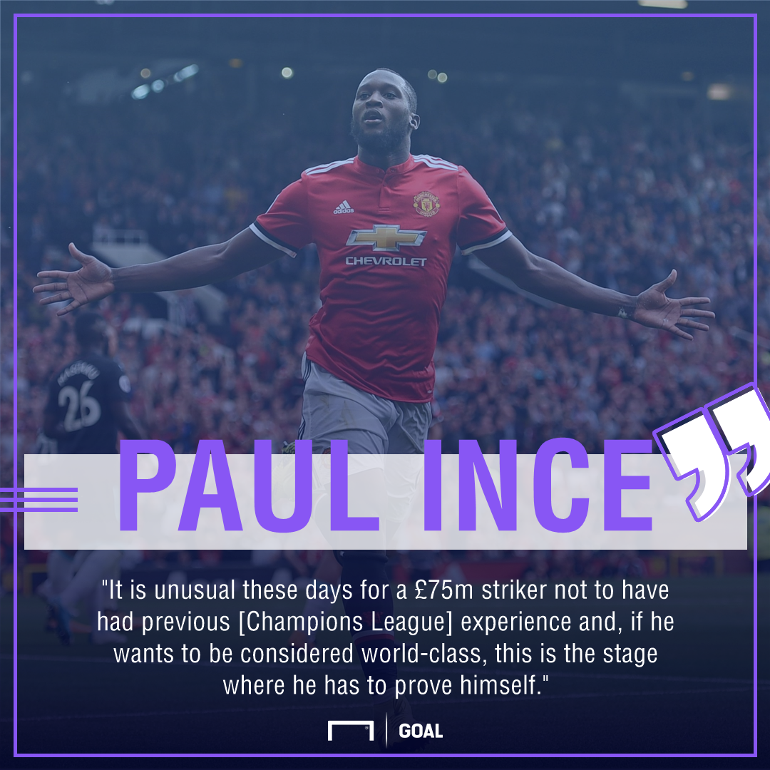 Paul Ince Romelu Lukaku Champions League world class
