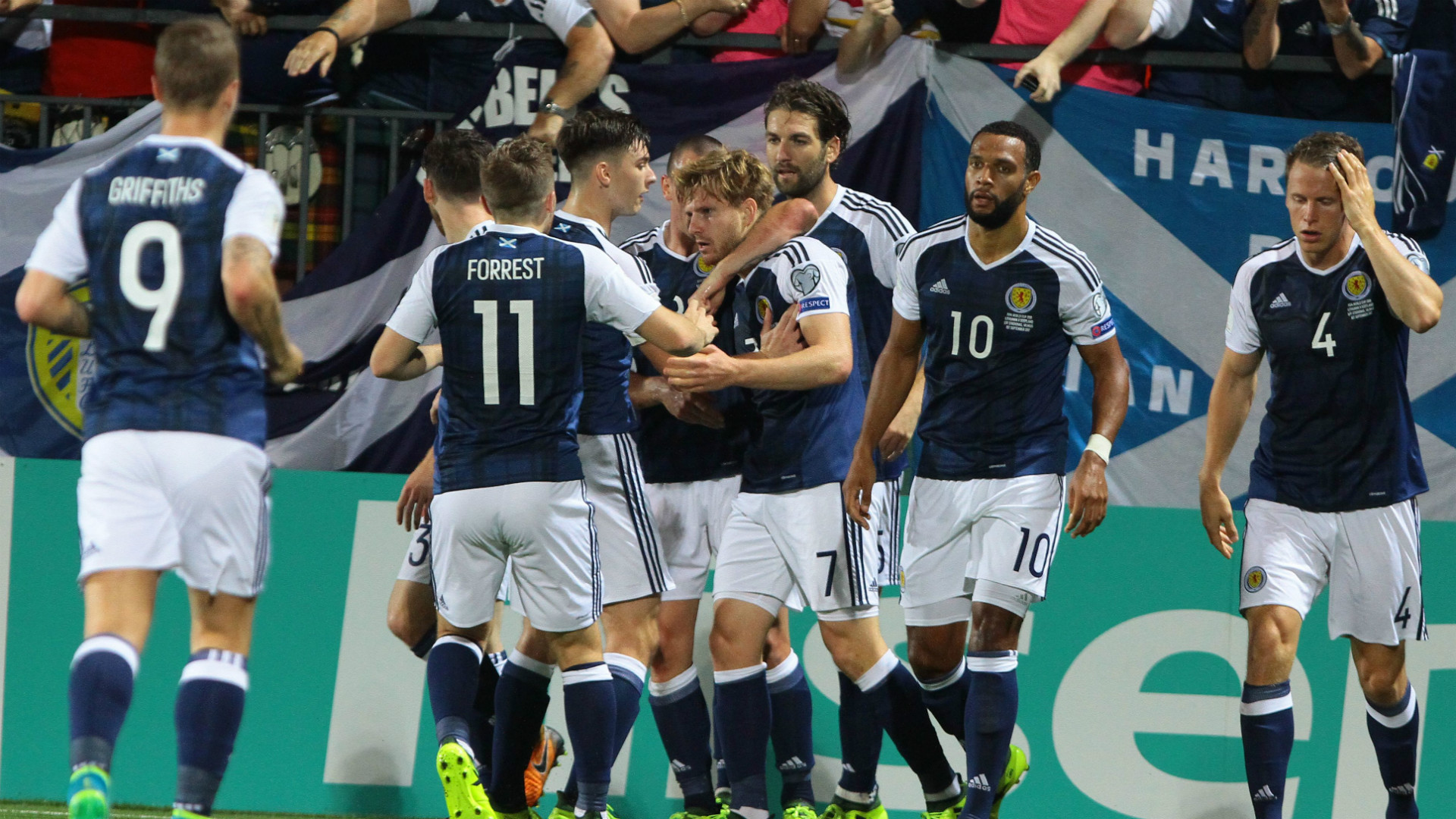 Scotland's Scott Brown accuses Malta defender Steve Borg of spitting in him