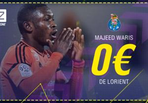 Abdul Majeed Waris - De Lorient au FC Porto - Prêt avec option d'achat de 6 millions d'euros - Prêté jusqu'à la fin de la saison.