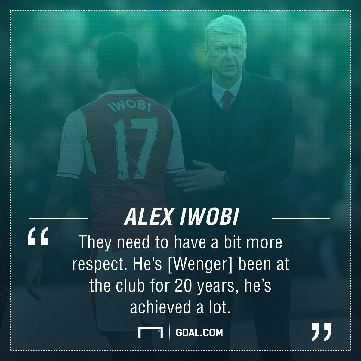 Alex Iwobi Arsene Wenger