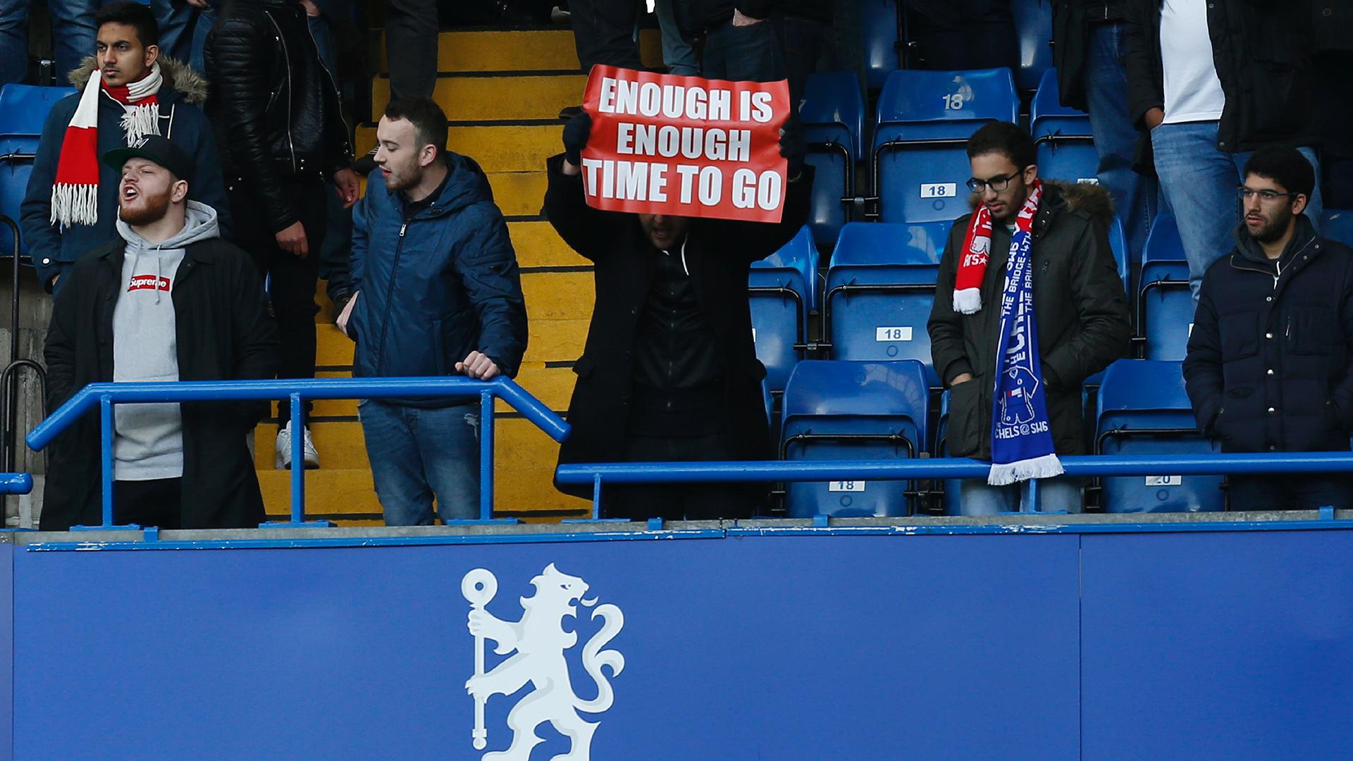 Arsenal fan enough is enough banner