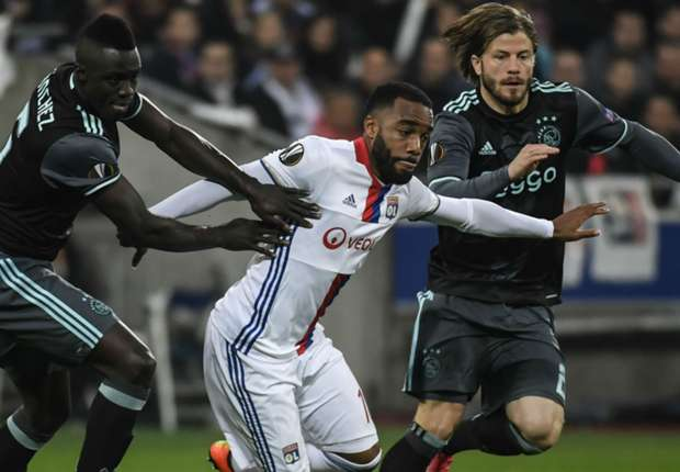 Alexandre Lacazette Davinson Sanchez Lyon Ajax UEFA Europa League 11052017