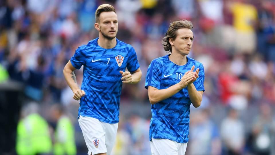 Luka Modric Ivan Rakitic Croatia World Cup 2018