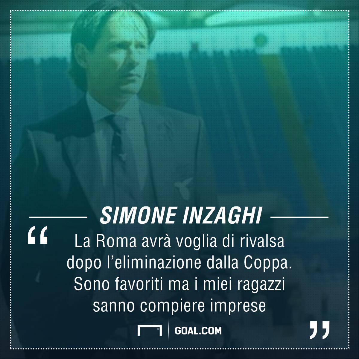 Lazio: Inzaghi,sappiamo come battere la Roma